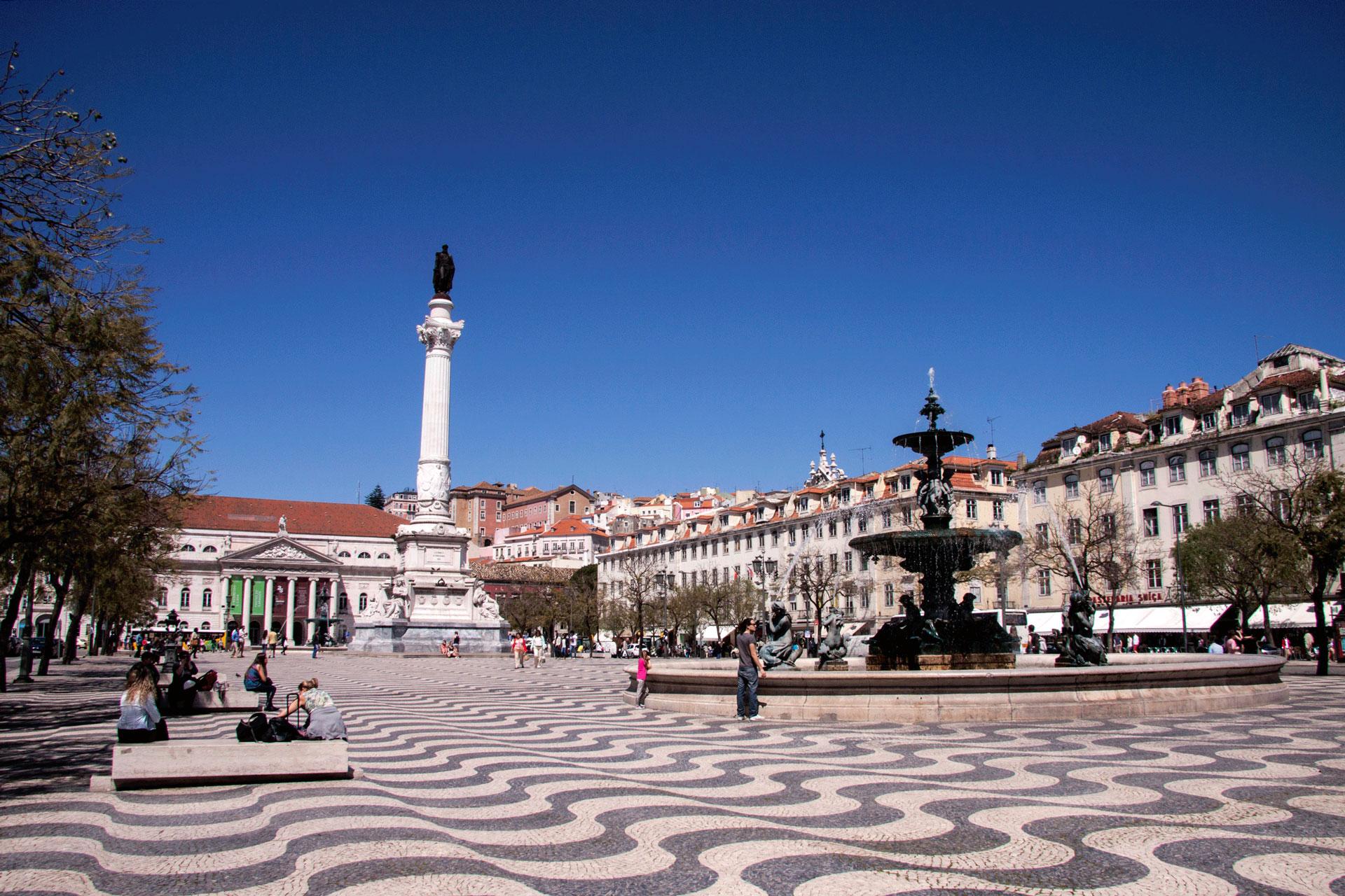 Praça da Figueira na Baixa de Lisboa