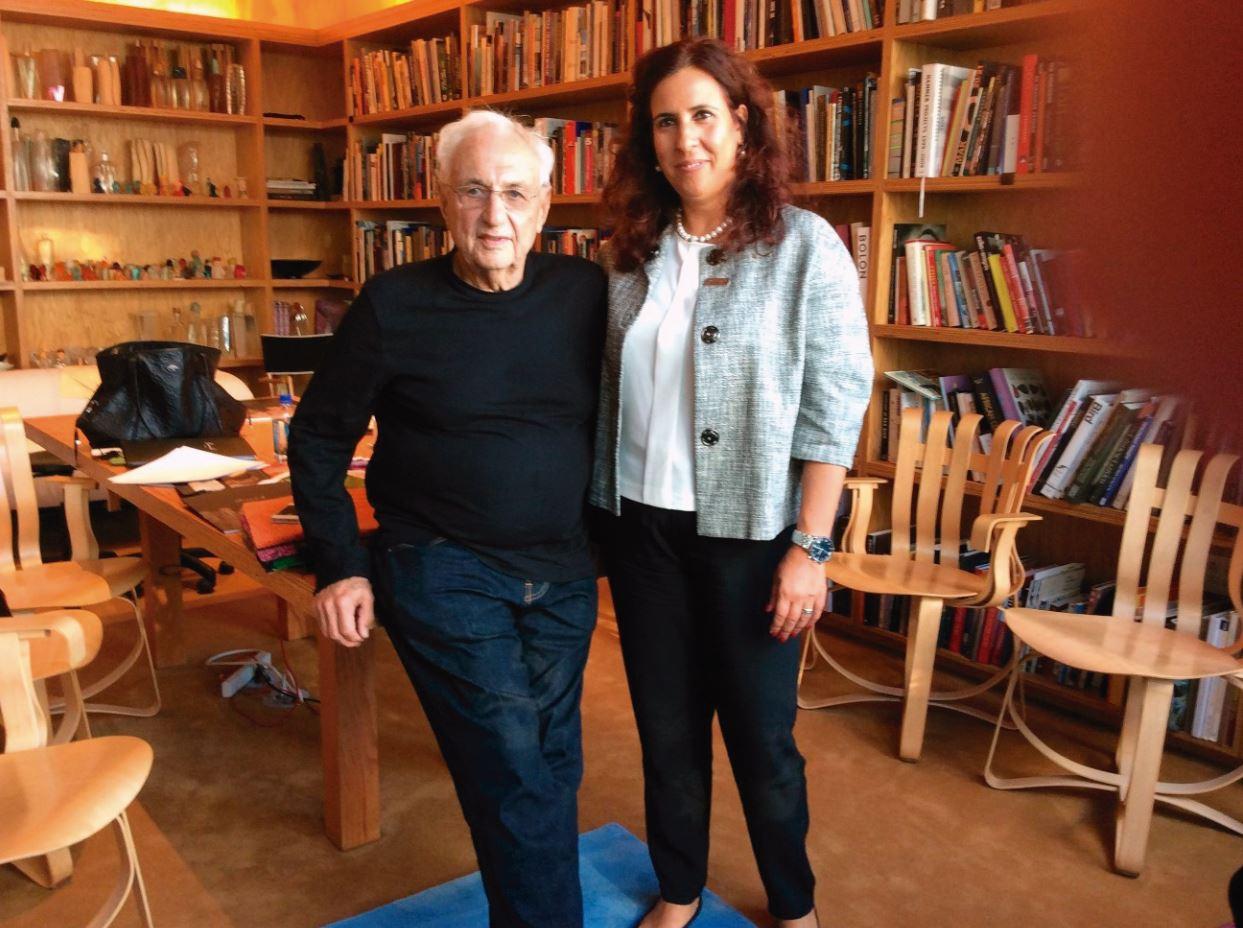 Fernanda Barbosa e Frank Gehry