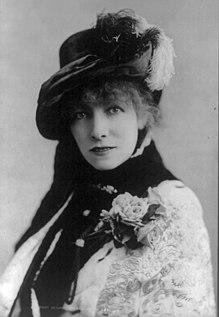 A atriz Sarah Bernhardt