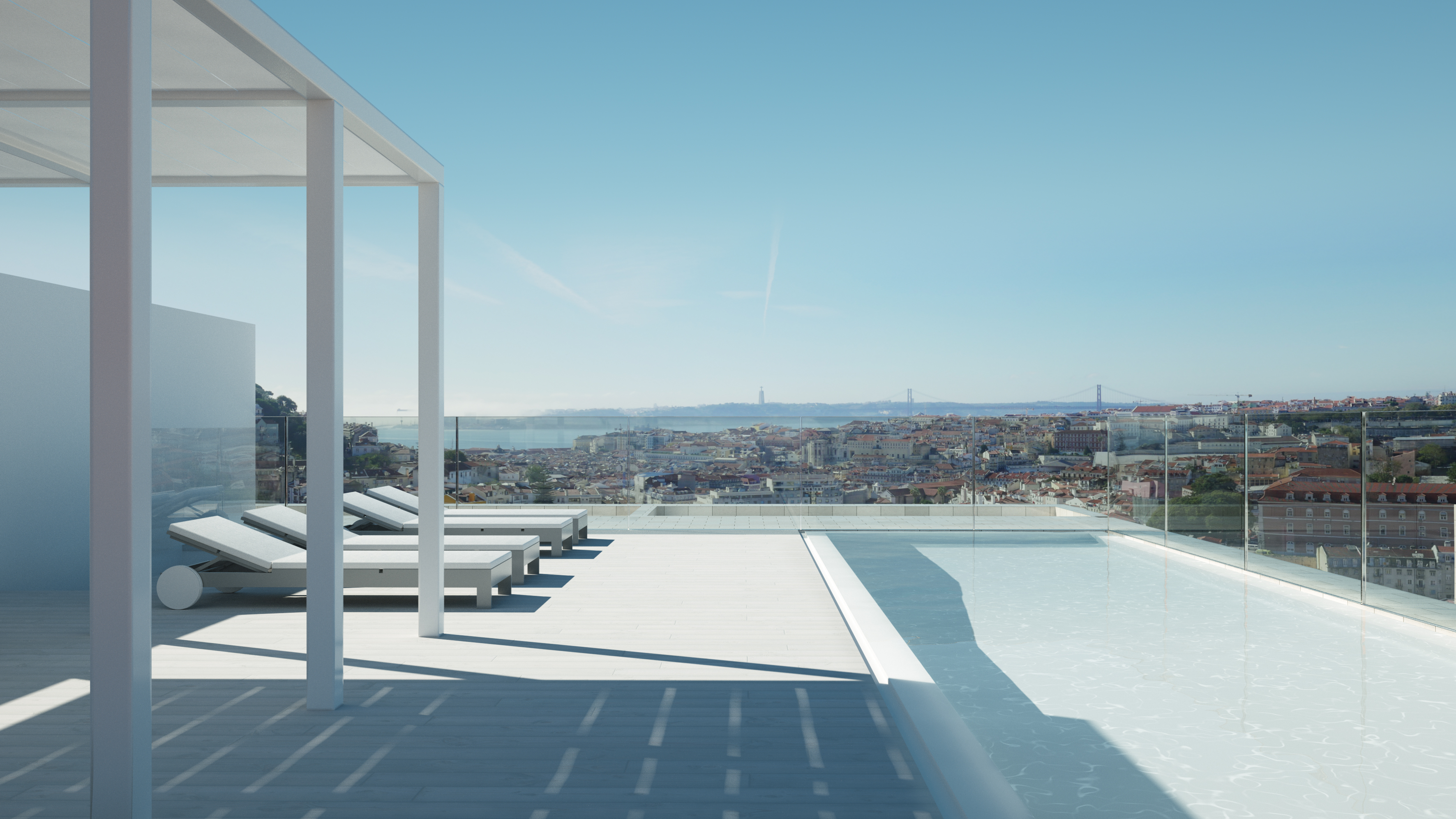 Apartments in Lisbon with breathtaking view and pool on the rooftop, Vanguardeagle Real Estate Ltd