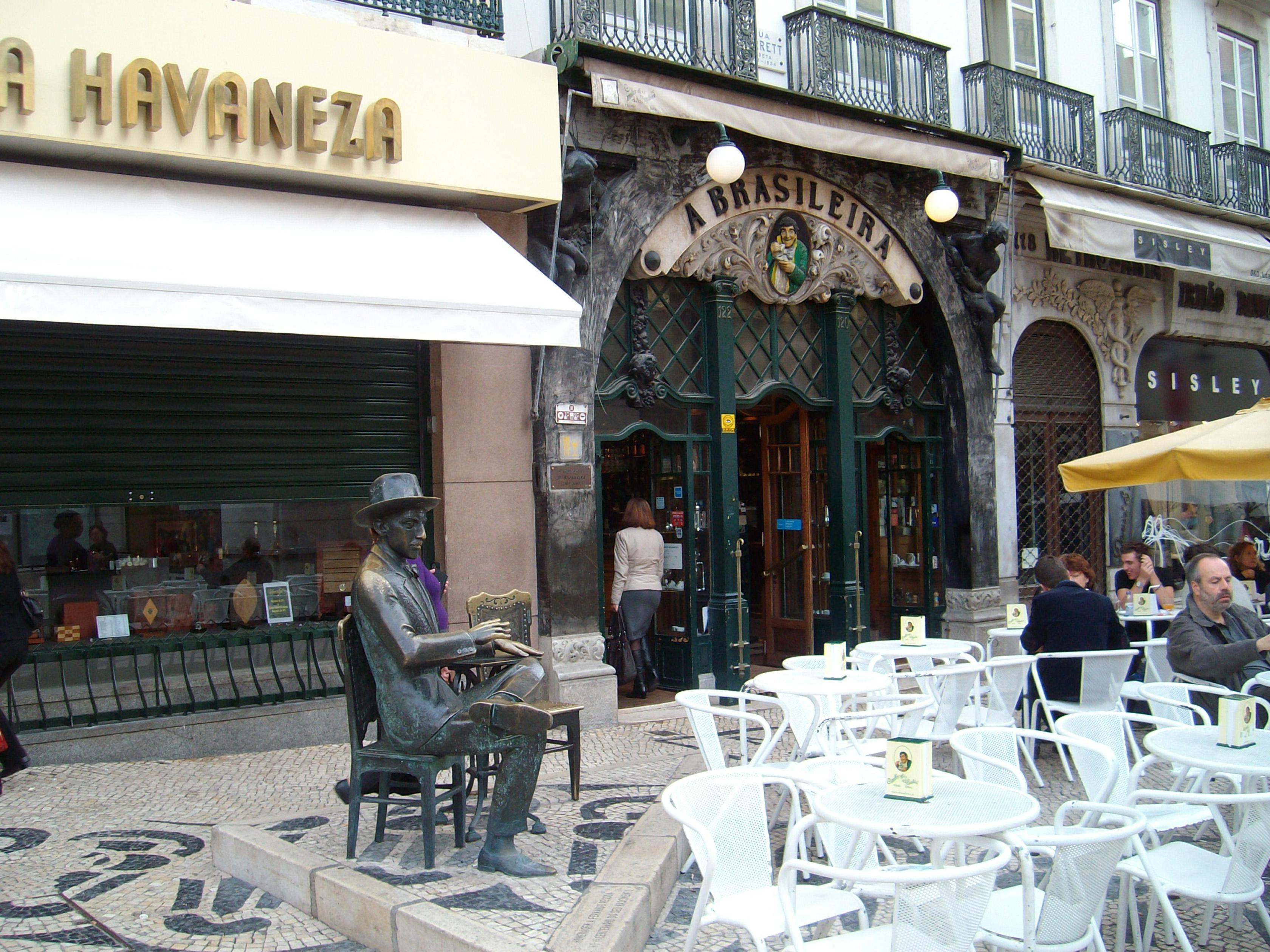 Café A Brasileira, Rua Garret, Chiado, Lisboa