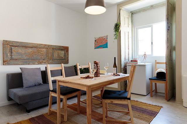 Sala de um dos apartamentos