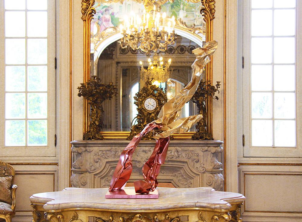 escultura de Miguel Rodrigues no palacete Mendonça, casa do Imã Aga Khan