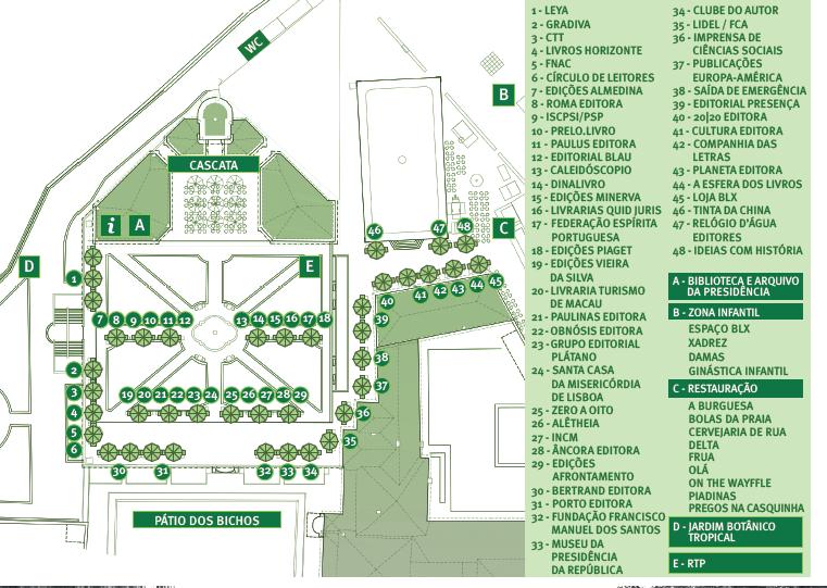 Mapa Jardim Botânico Festa do Livro Belém