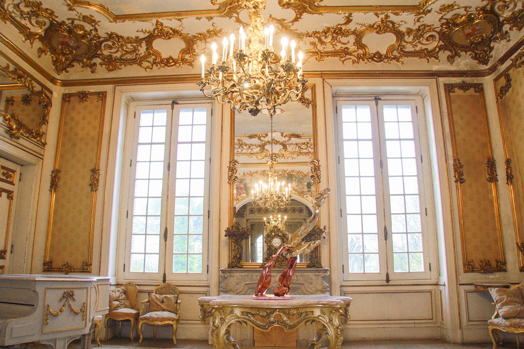 Sala Luis XV interior palácio Mendonça, nova casa de Aga Khan em Portugal