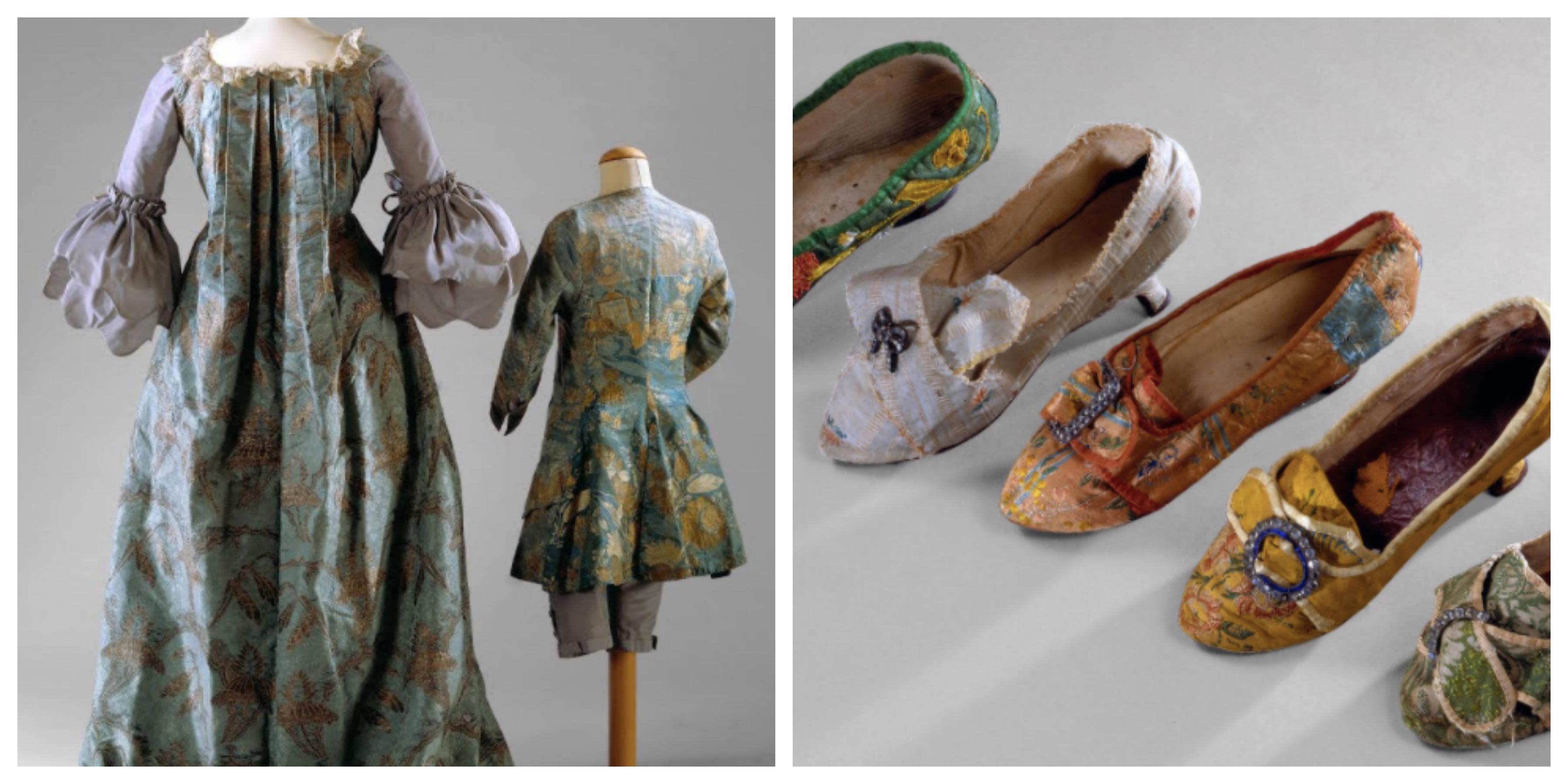 Elemento Plis Watteau, véstia de criança e sapatos. Século XVIII. ©Carlos Monteiro